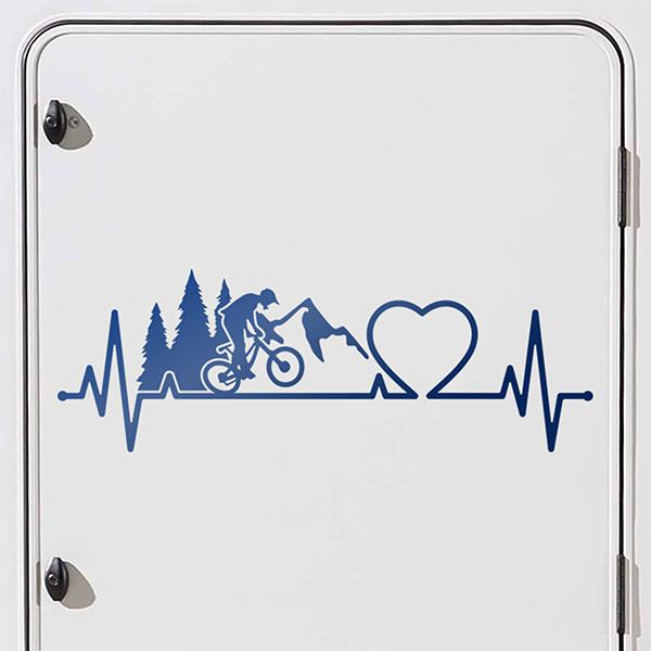 Car & Motorbike Stickers: Love cardiogram bmx