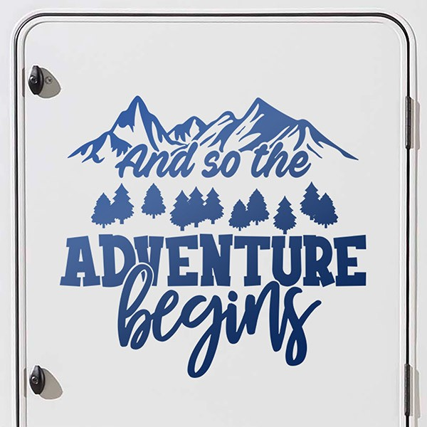 Car & Motorbike Stickers: And so the adventure beging