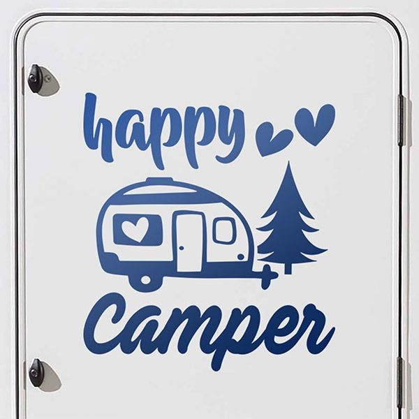 Car & Motorbike Stickers: Happy love camper