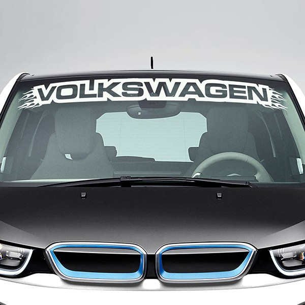 Car & Motorbike Stickers: Volkswagen Windshield Sunstrip