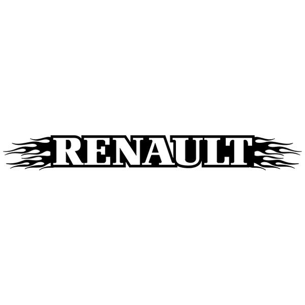 Car and Motorbike Stickers: Parasol Renault