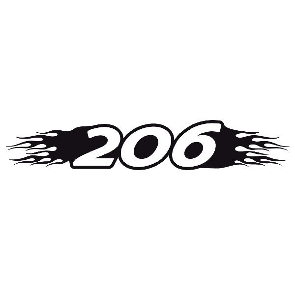 Car and Motorbike Stickers: Parasol 206