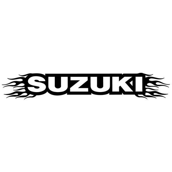 how to put a suzuki windshield sticker on