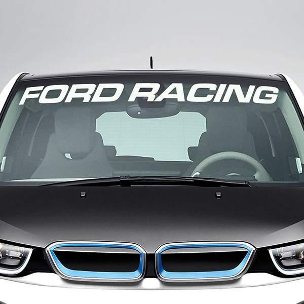 Car & Motorbike Stickers: Ford Racing  Windshield Sunstrip