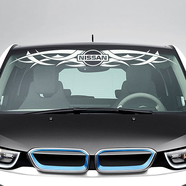 Car & Motorbike Stickers: Tribal Windshield Sunstrip with Nissan Logo