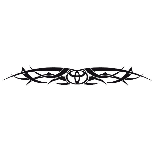 Car and Motorbike Stickers: Parasol Logo Toyota
