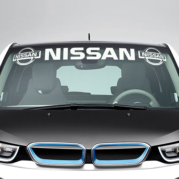 Car & Motorbike Stickers: Nissan Windshield Sunstrip with logos