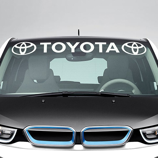 Car & Motorbike Stickers: Toyota Windshield Sunstrip with logos