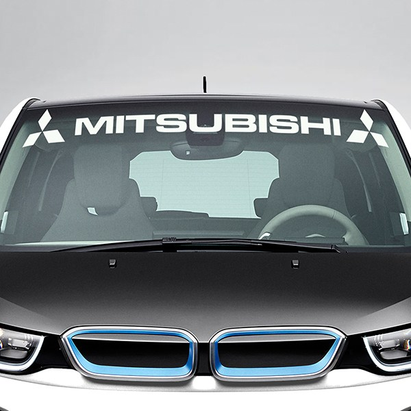 Car & Motorbike Stickers: Mitsubishi Windshield Sunstrip with logos