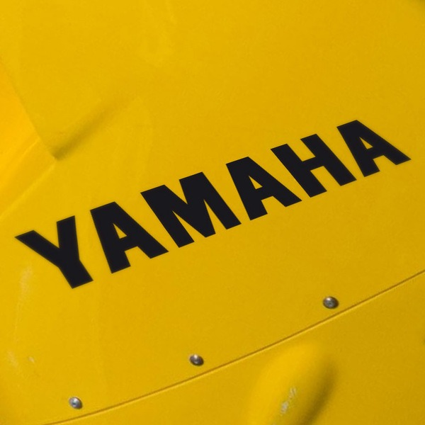 Car & Motorbike Stickers: Yamaha letters