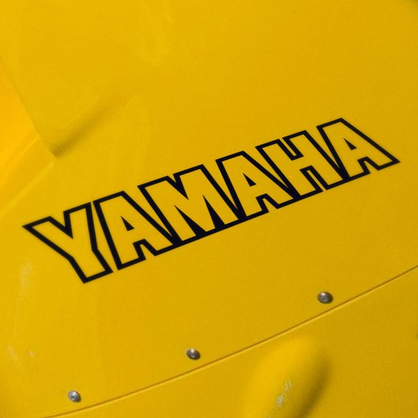 Car and Motorbike Stickers: Yamaha V
