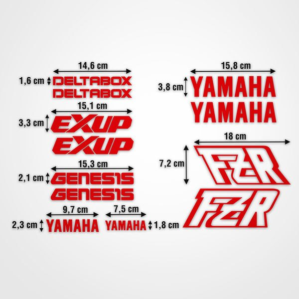 Car & Motorbike Stickers: kit Yamaha FZR