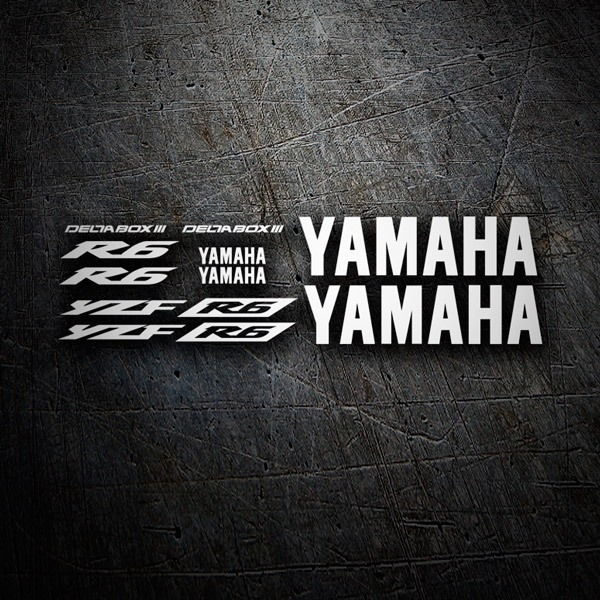 Car & Motorbike Stickers: Kit Yamaha YZF R6 2003 II