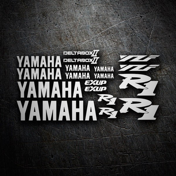 Car & Motorbike Stickers: Kit Yamaha YZF R1 2001