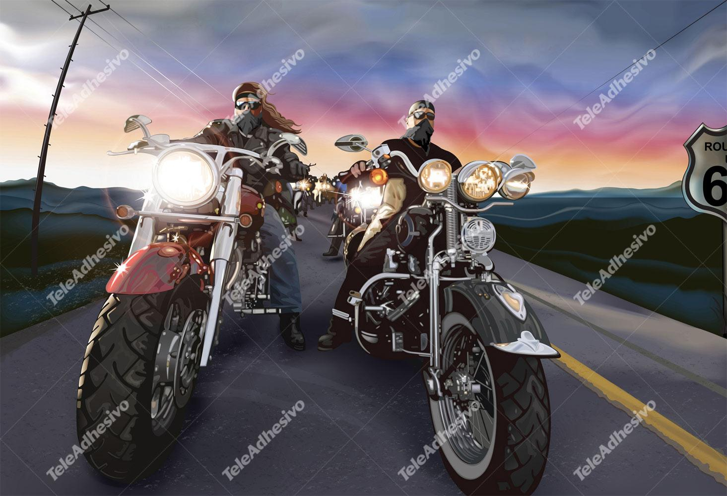 Wall Murals: Bikers Route 66
