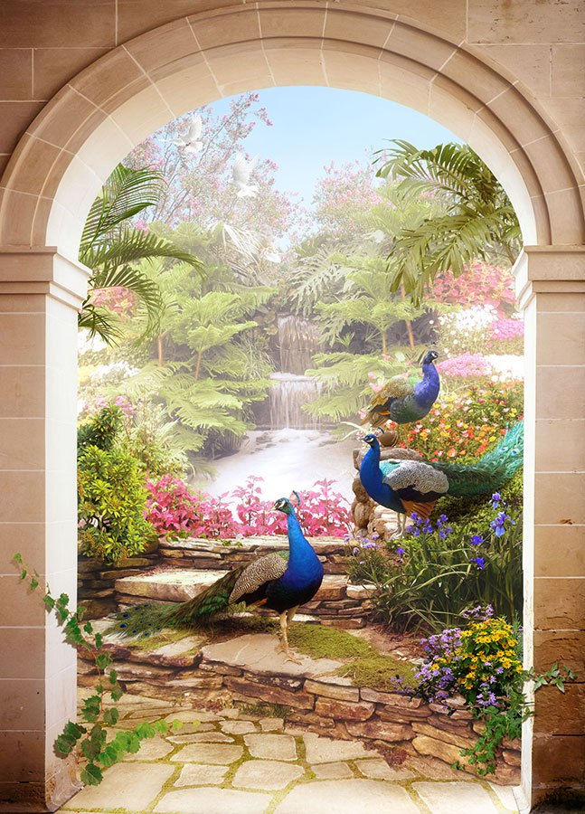 Wall Murals: Tropical garden