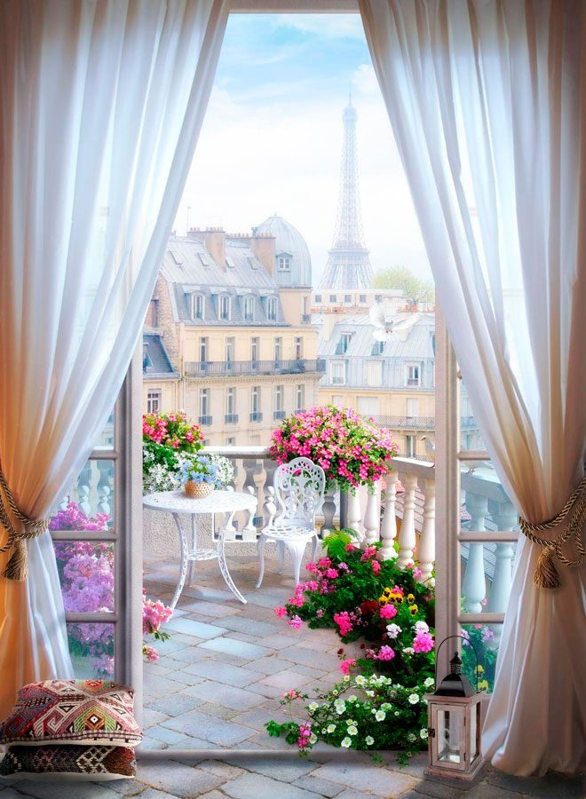 Wall Murals: Terrace in Paris