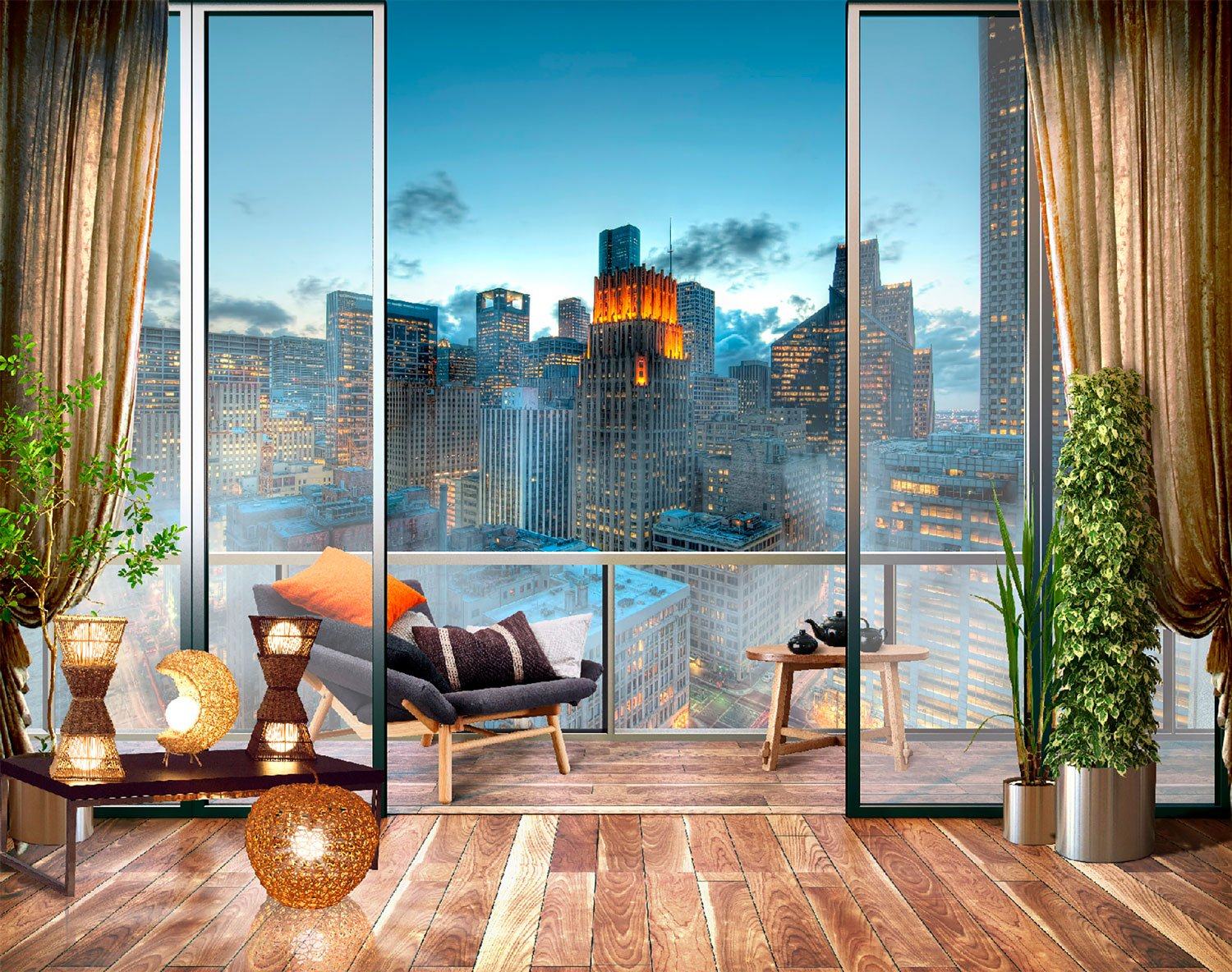 Wall Murals: Terrace in Houston, Texas