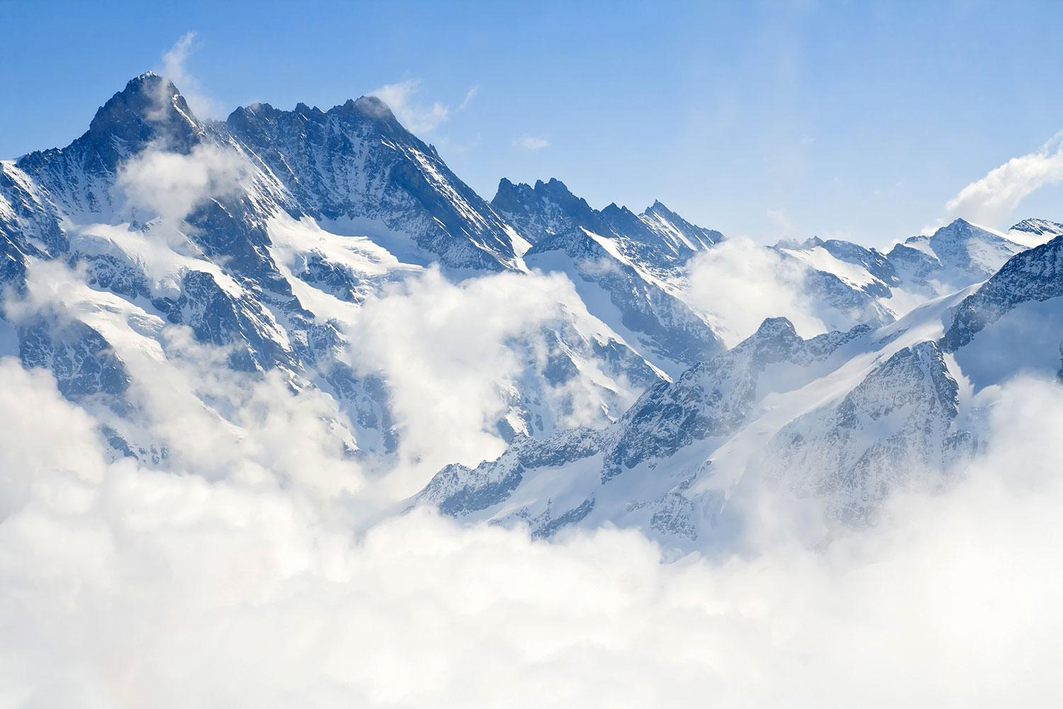 Wall Murals: Mountains above the clouds