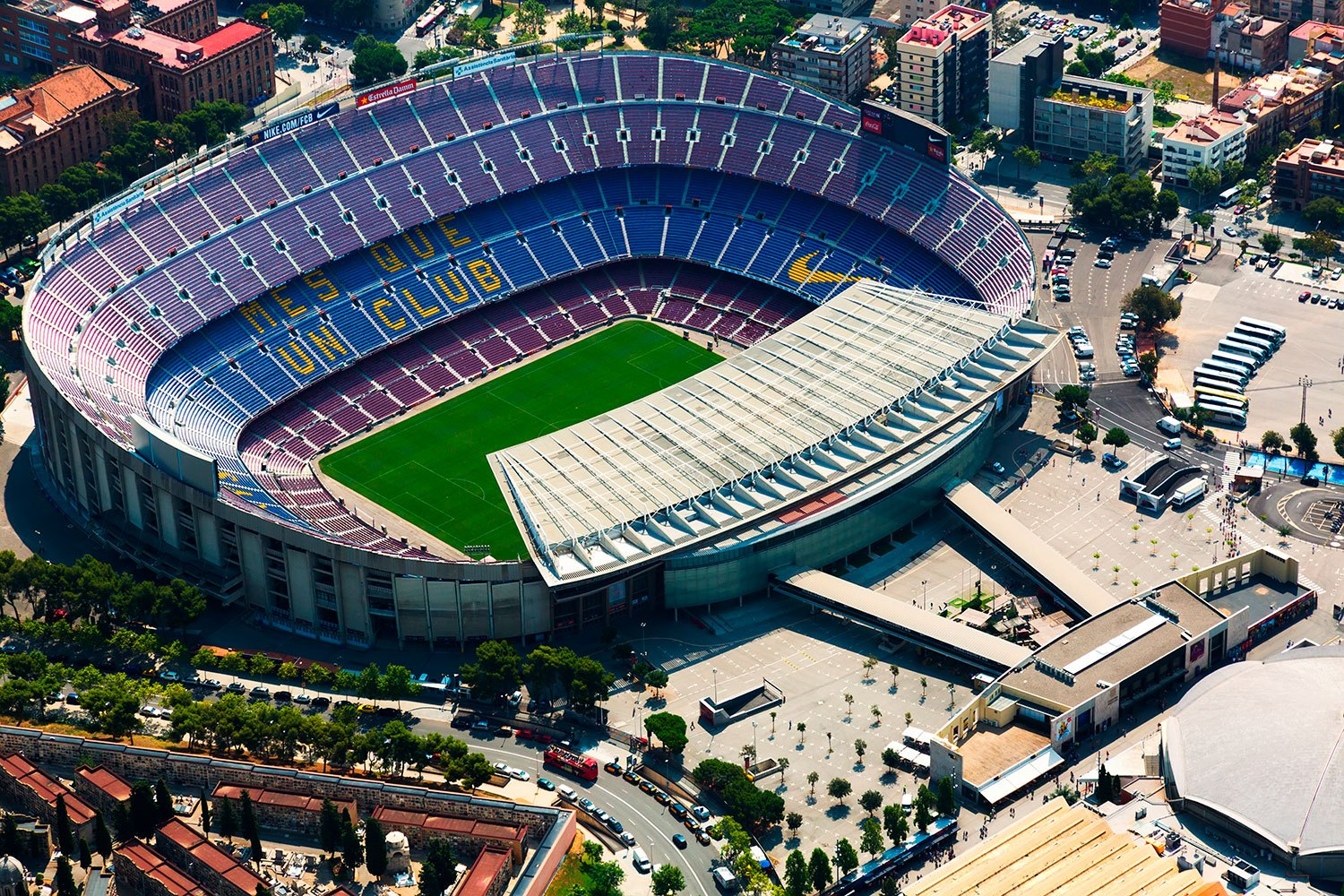 Wall Murals: Aerial view of Camp Nou