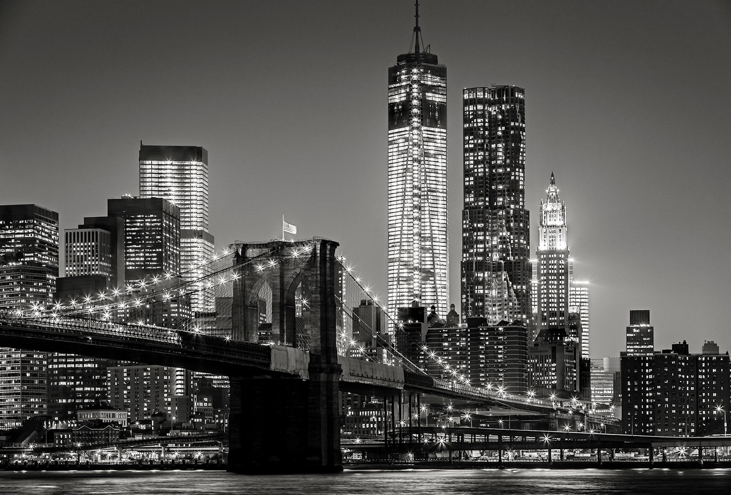 Wall Murals: Manhattan in black and white