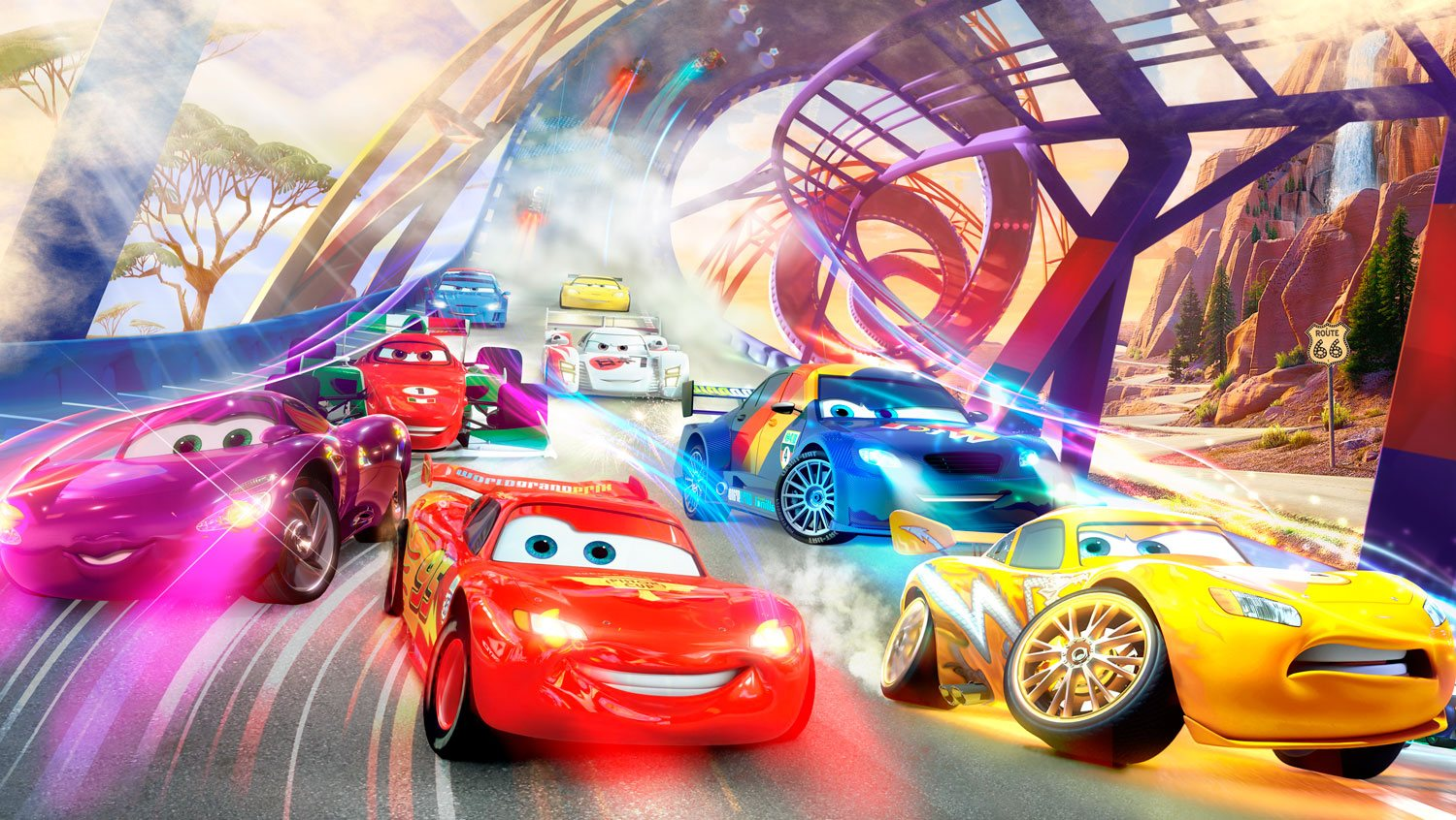 Wall Murals: Cars race, Disney
