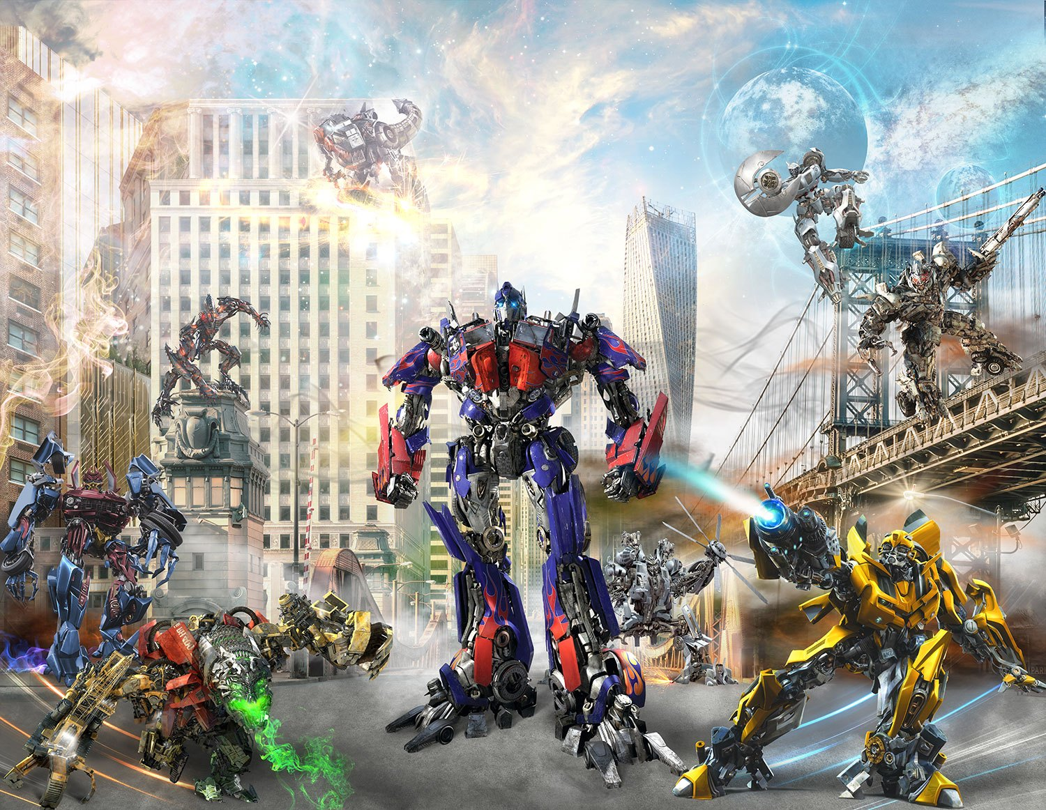 Wall Murals: Transformers in action