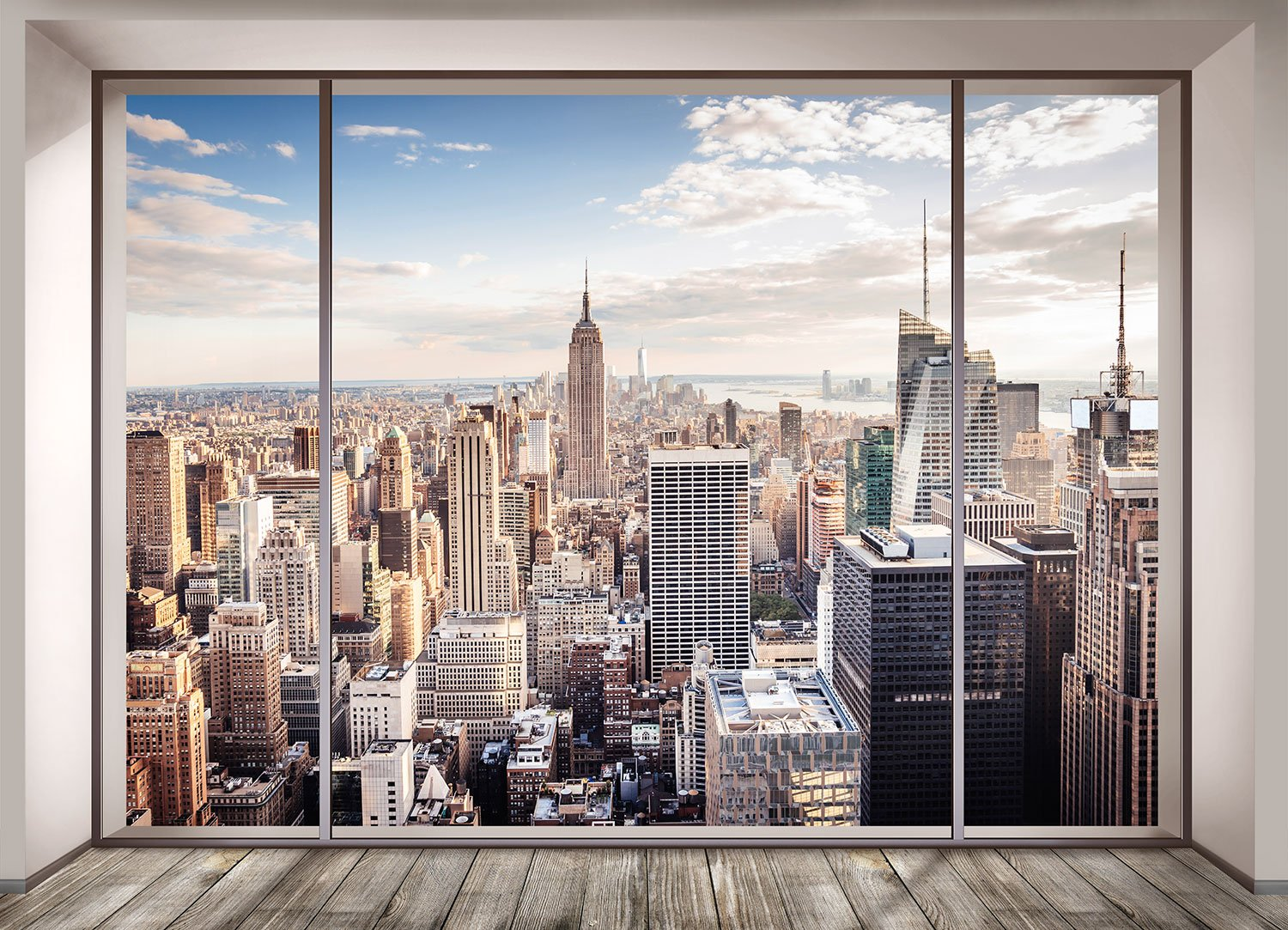 Wall Murals: View of New York from a room