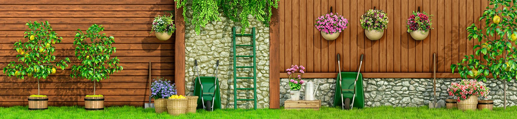 Wall Murals: Gardening Day