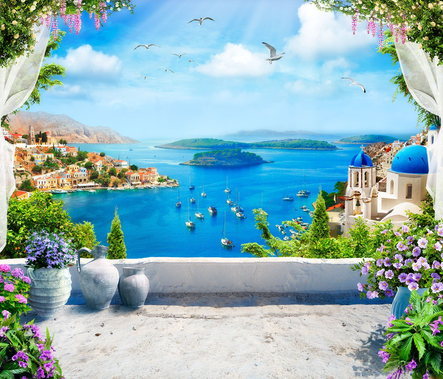 Wall Murals: Balcony to the Aegean