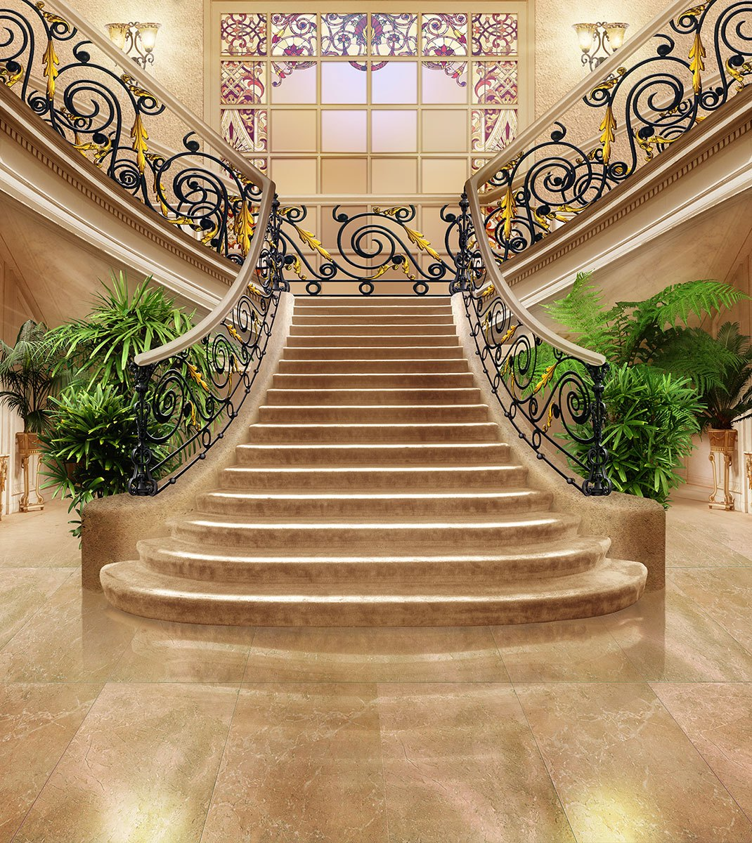Wall Murals: Stairs of a great hotel