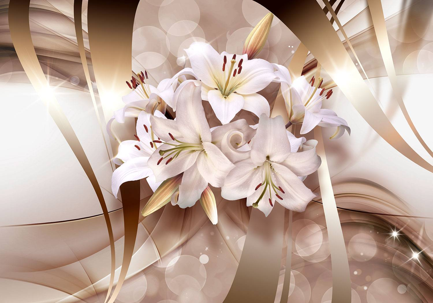 Wall Murals: Lilies of peace